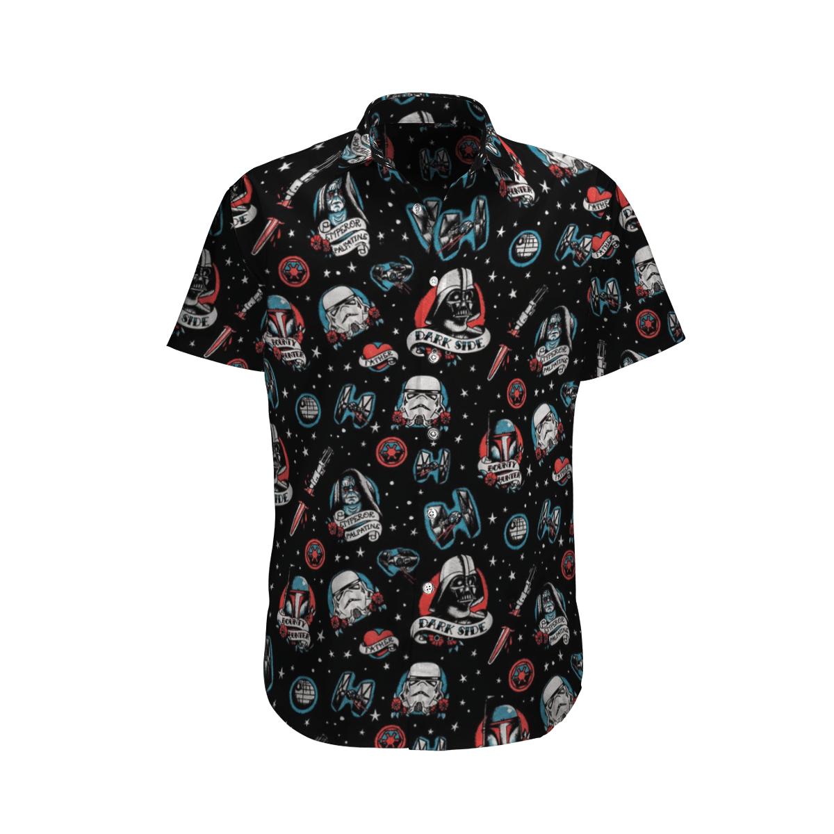 Star wars Dark side Bounty Hunter Hawaiian shirt