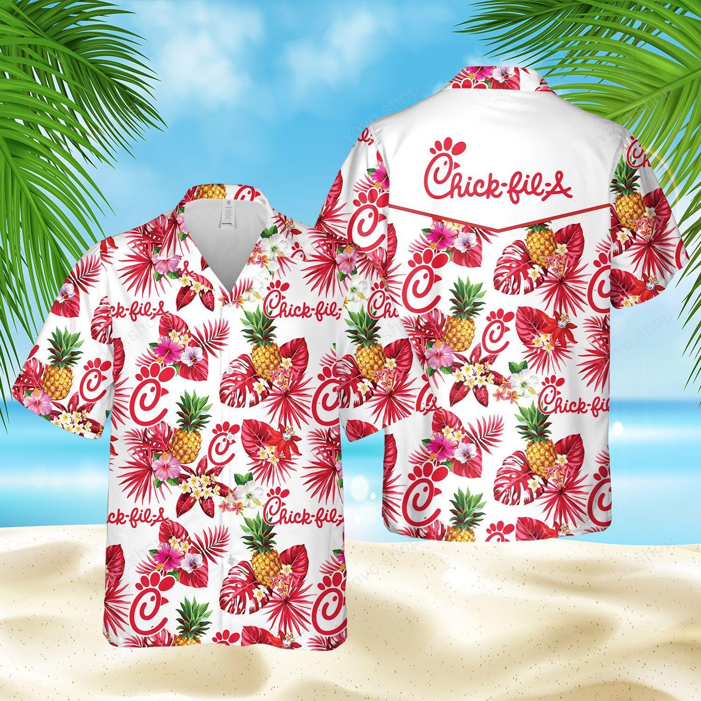Chick-fil-A Pineapple Hawaiian Shirt and Summer Shorts