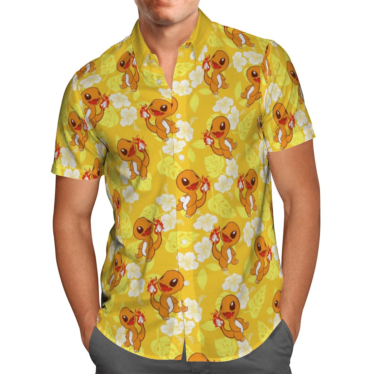 Pokemon Charmander Tropical Beach Shirt And Shorts