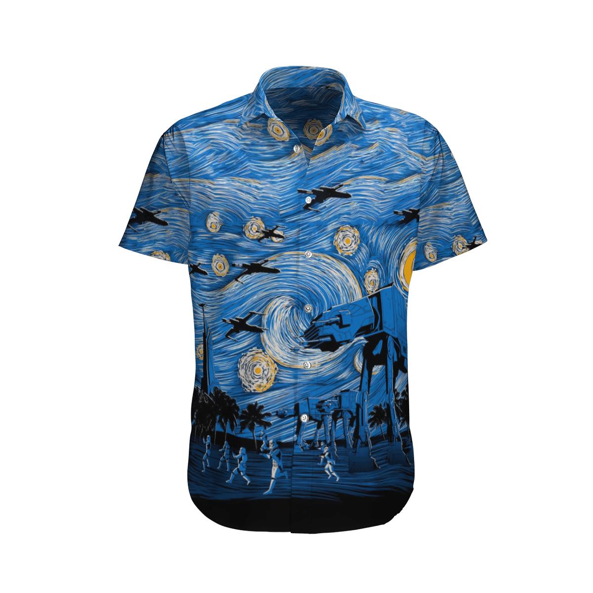 Star wars Crew Stormtrooper and Spacecraft Army Hawaiian Shirt