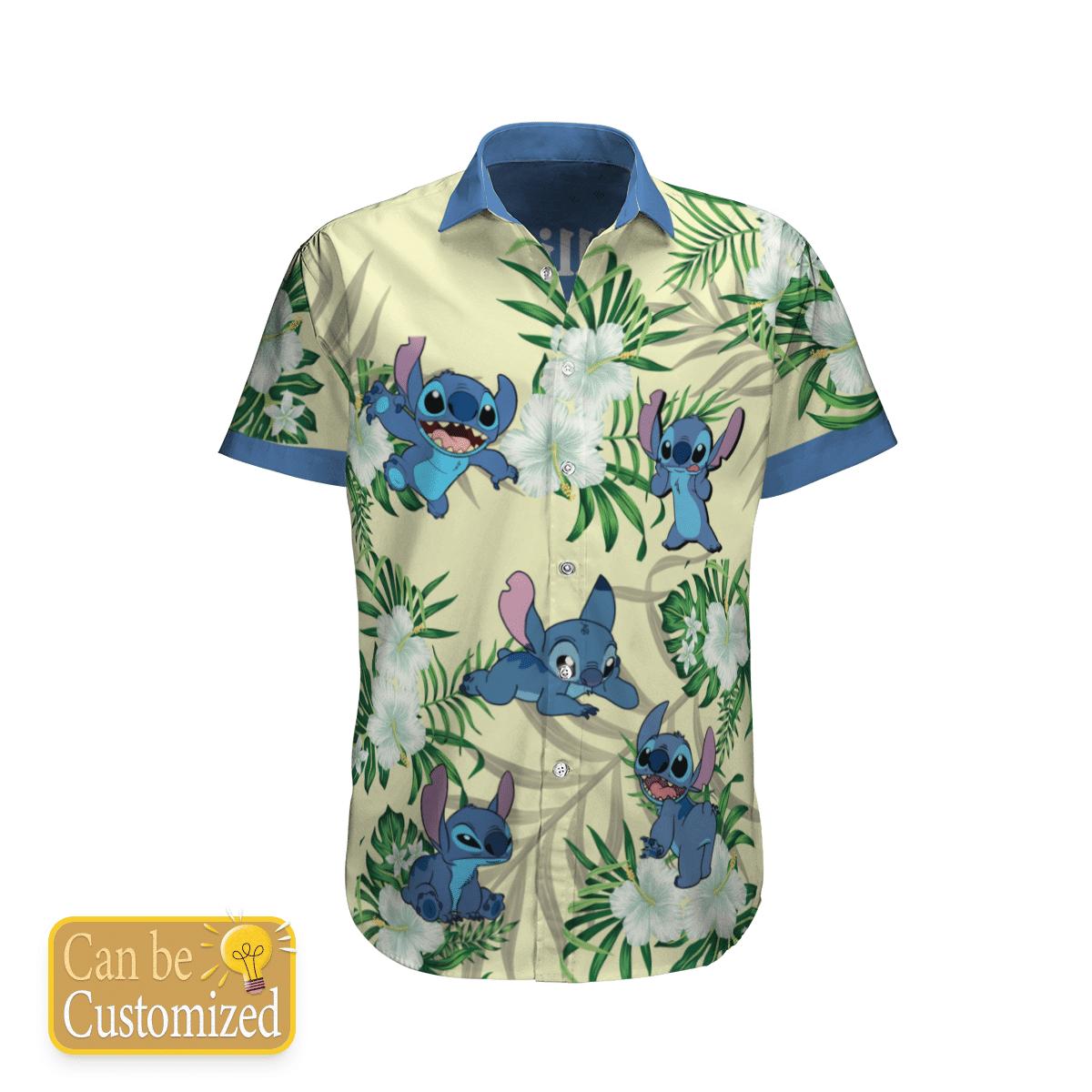 Personalized Stitch Flower Hawaiian Shirt Summer Shirt