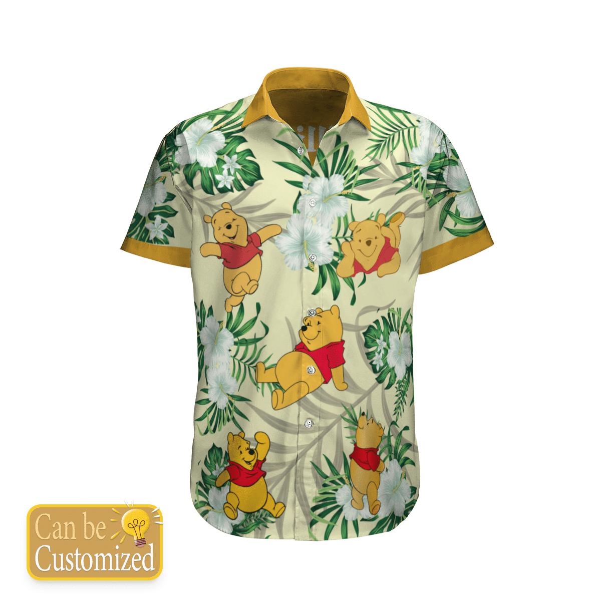 Personalized Pooh Flower Hawaiian Shirt Summer Shirt