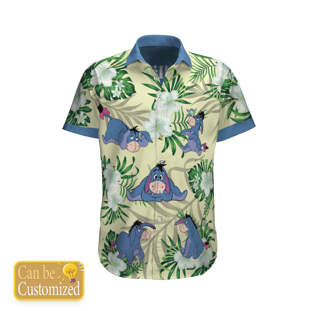 Personalized Eeyore Flower Hawaiian Shirt Summer Shirt