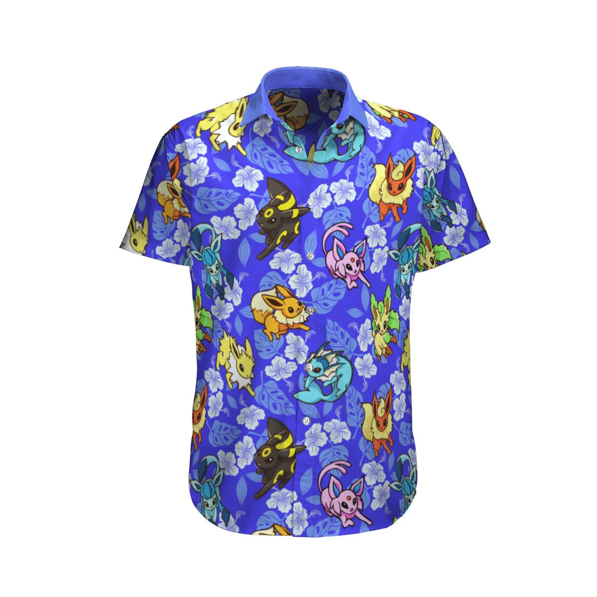 Pokemon Eevee Tropical Beach Hawaiian Shirt And Shorts