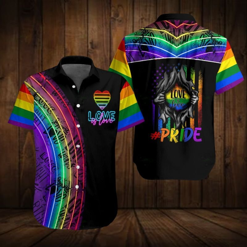 LGBT Color Love Pride 3D Hawaiian shirt
