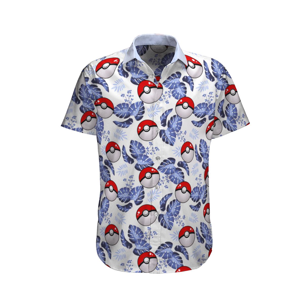 Pokemon Ball Tropical Beach Hawaiian Shirt And Shorts