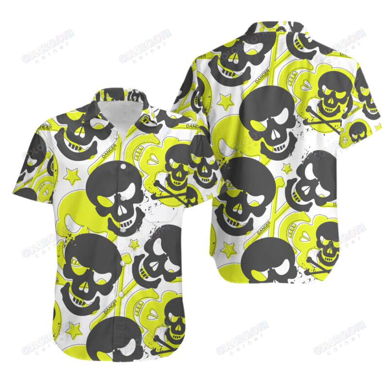 Love Skull Danger Yellow Hawaiian Shirt