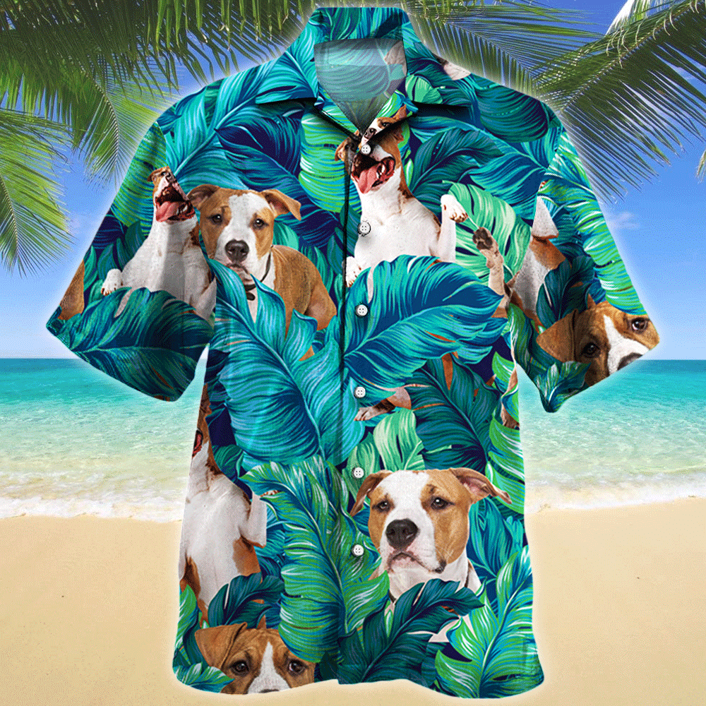 American Staffordshire Terrier Dog Lovers Gift Hawaii Shirt