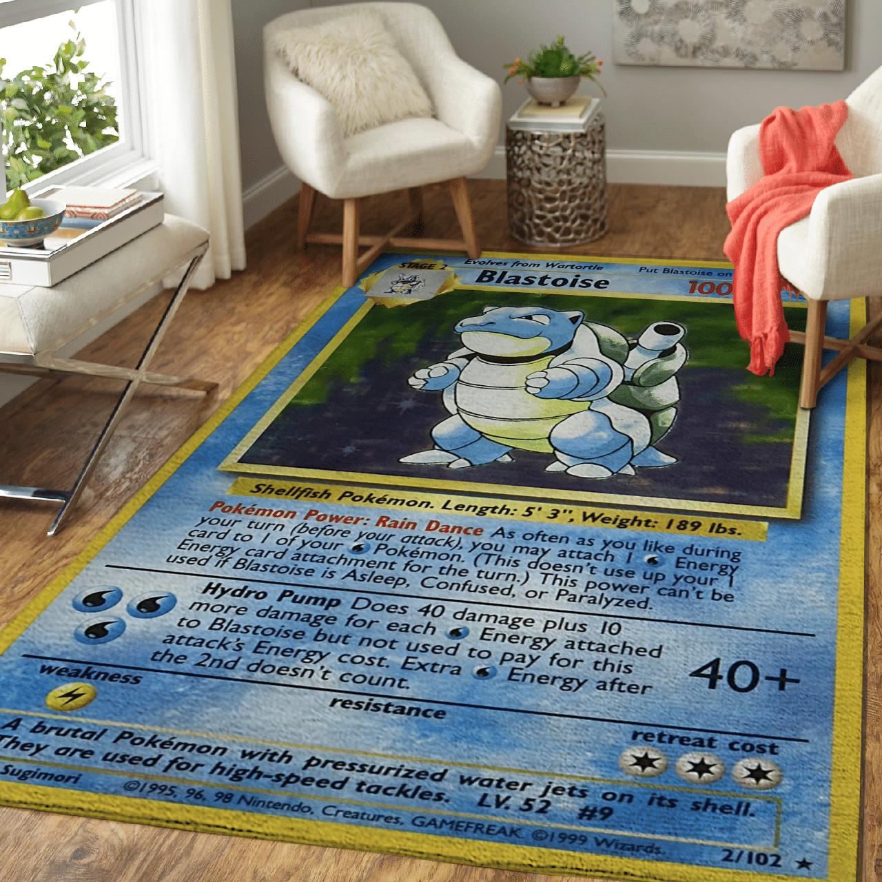 Pokemon Blastoise Rug Pokemon Carpet