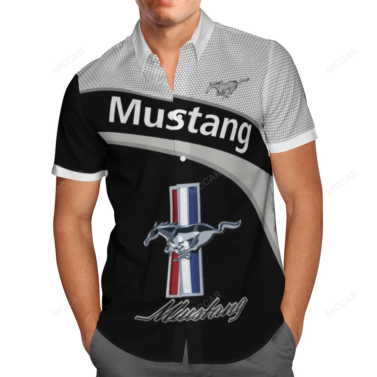 Ford Mustang sport car logo Polo Shirt