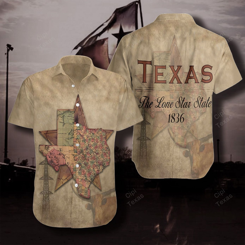 Texas The Lone Star State 1836 Hawaiian Shirt