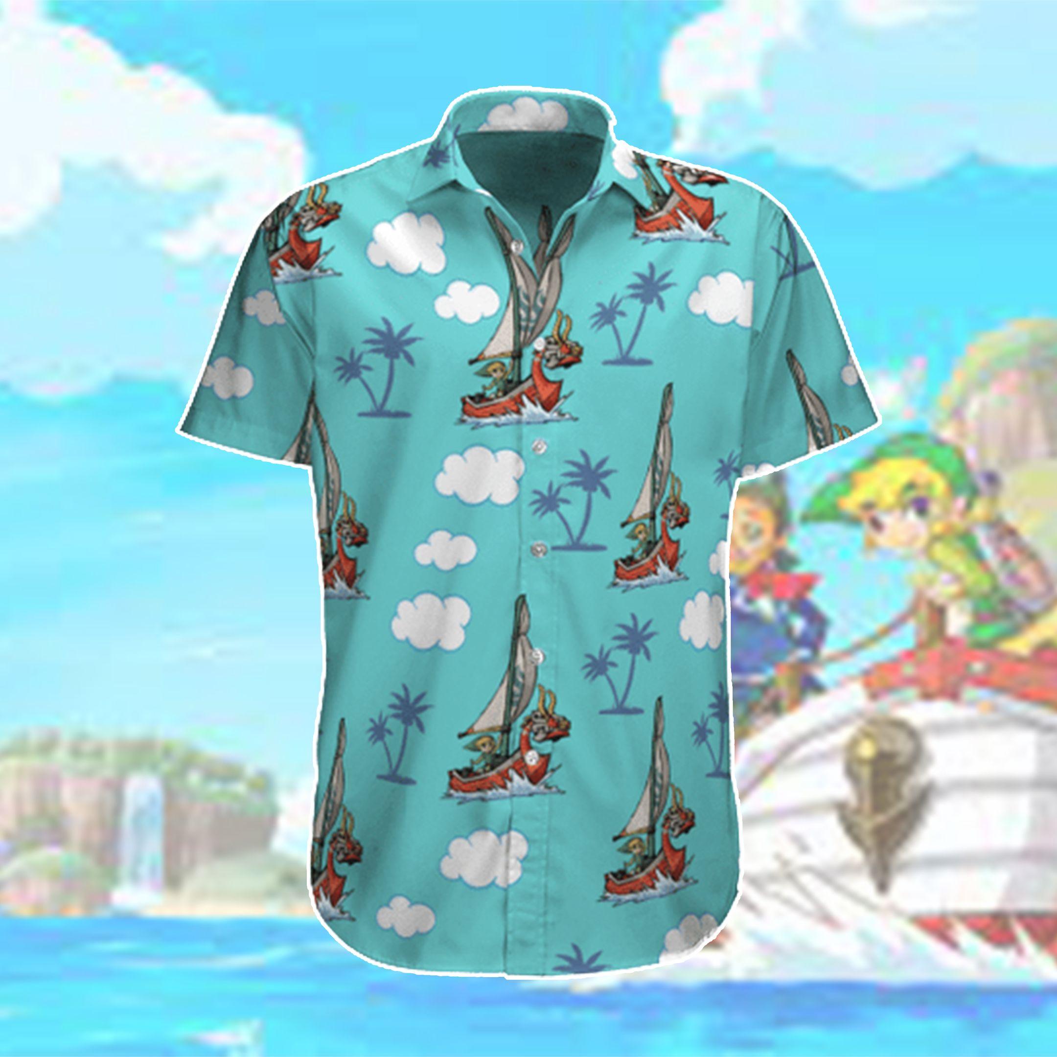 Legend of Zelda The Wind Waker Hawaiian Shirt and Beach Shorts