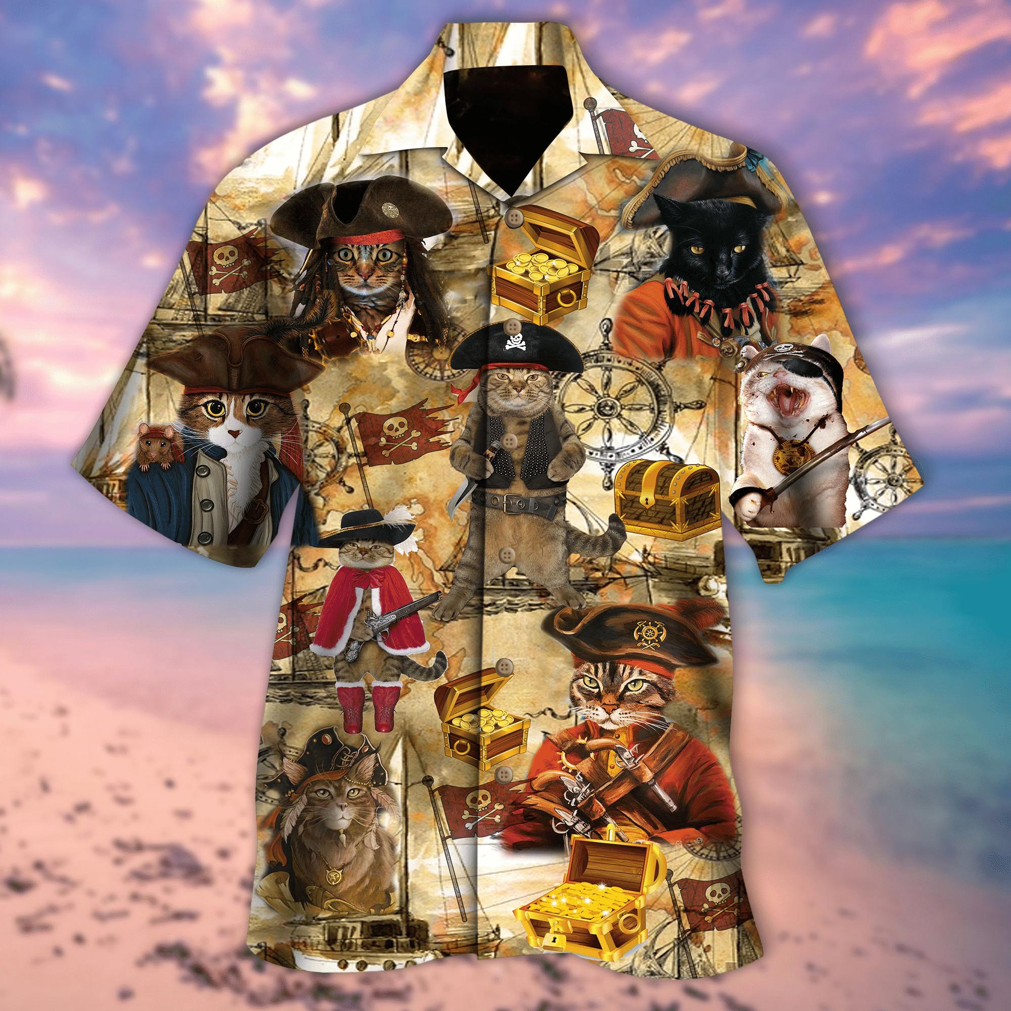 Would You Go For A Treasure Hunting Cat Hawaiian Shirt AV00152