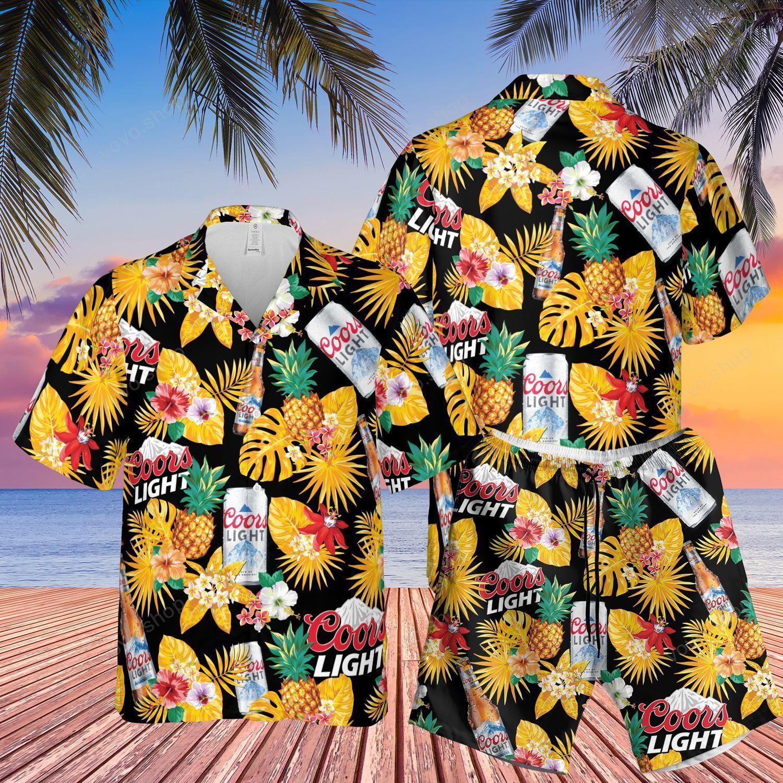 Coors Light Beer Hawaiian Shirt and Beach Shorts
