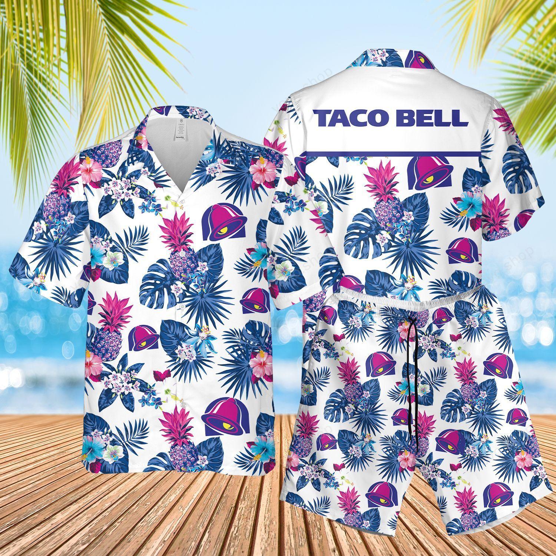 Taco Bell Floral Aloha Hawaiian Shirts and Summer Shorts