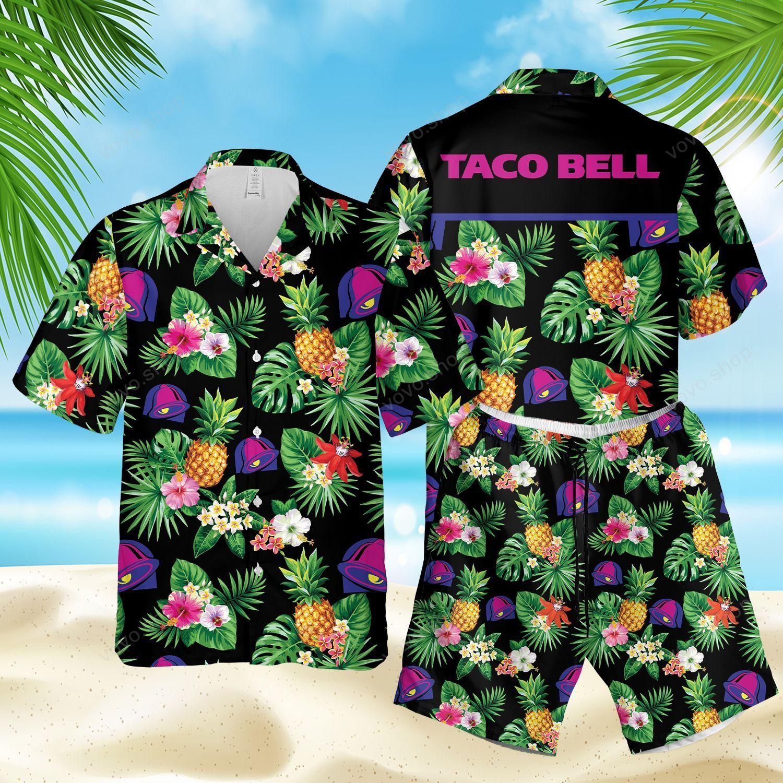 Taco Bell Black Tropical Hawaiian Shirts and Summer Shorts