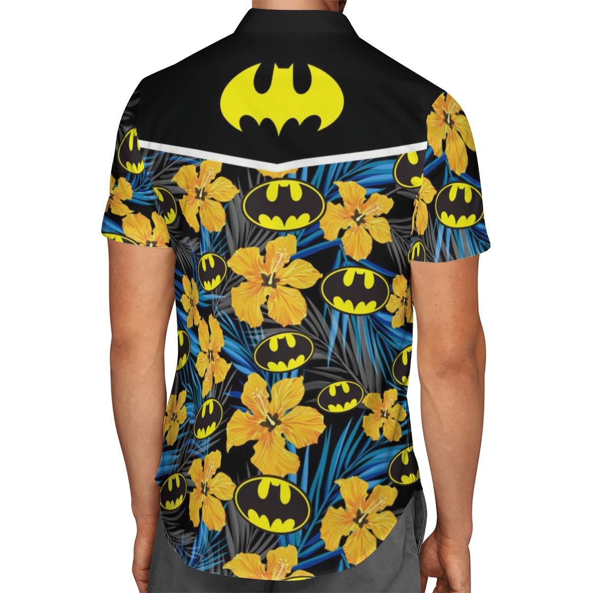 Batman Logo Floral Hawaiian Shirt Summer Shirt