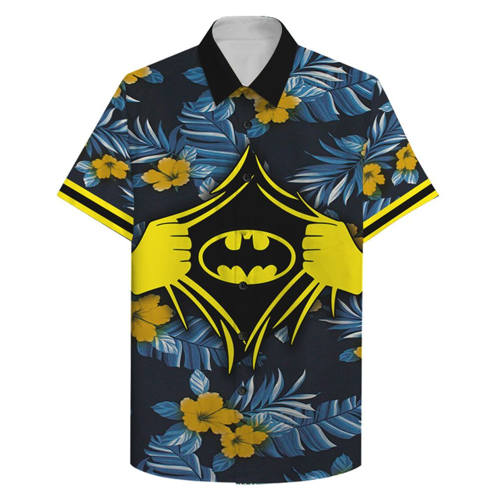 Batman Power inside us floral Hawaiian Shirt