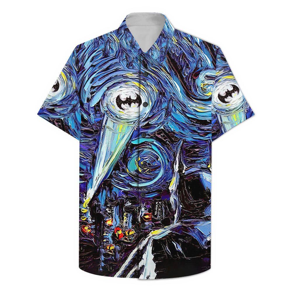 Batman The Starry Night Hawaiian Shirt Summer Shorts