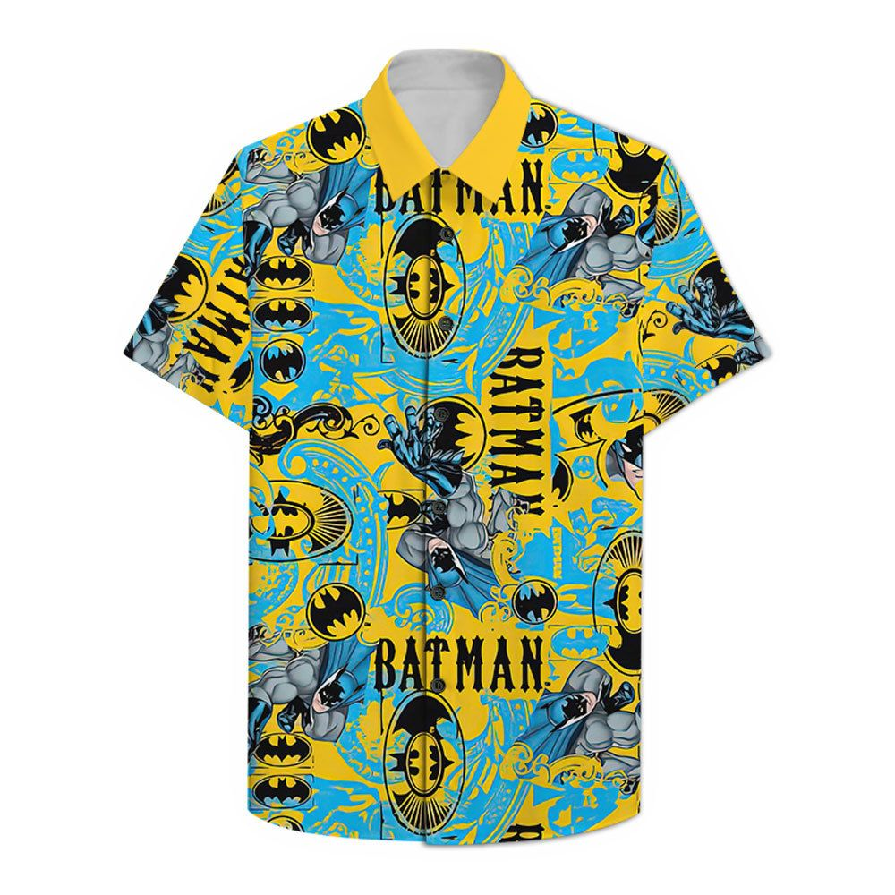 Batman yellow color Hawaiian Shirt Summer Shirt