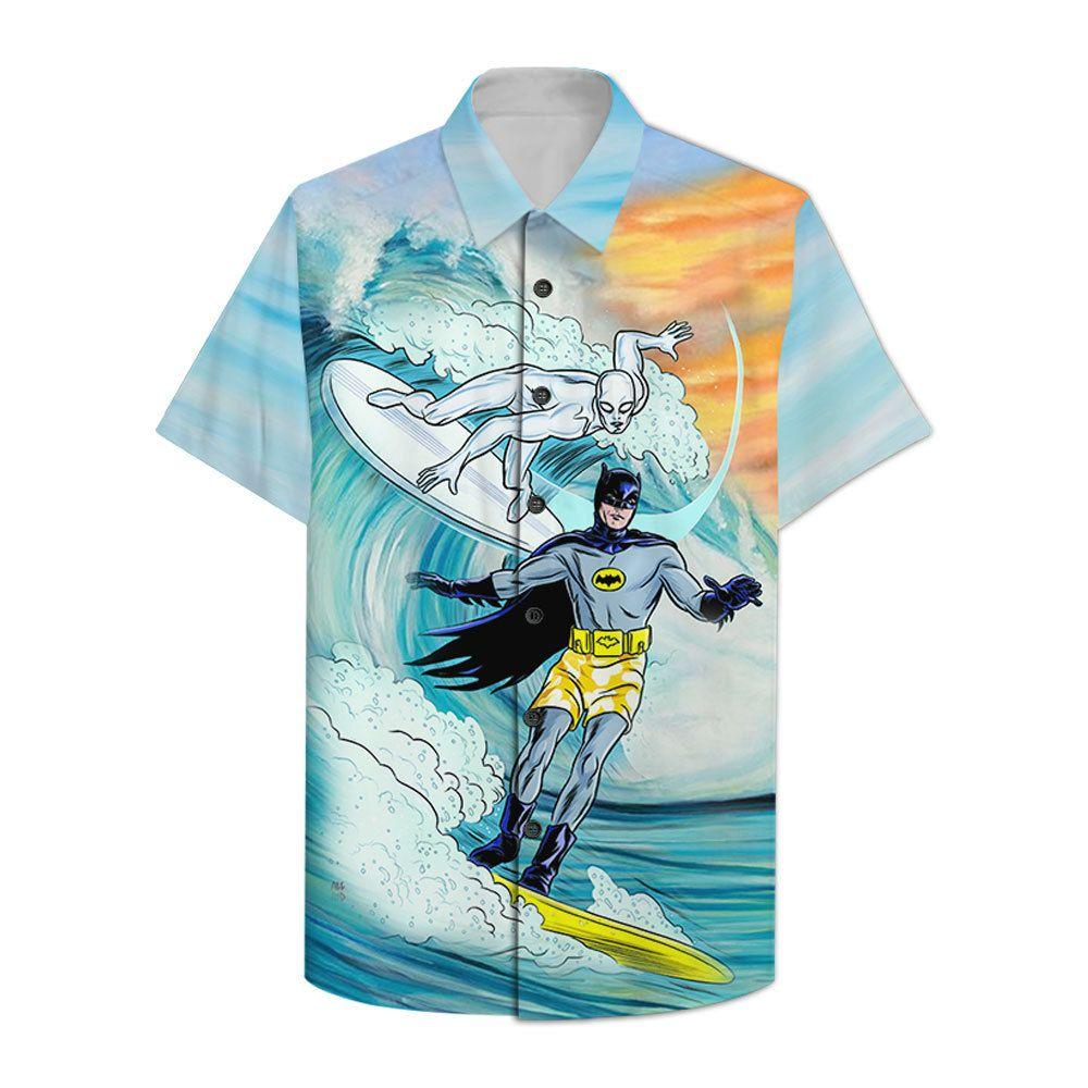 Batman and white villain Hawaiian Shirt