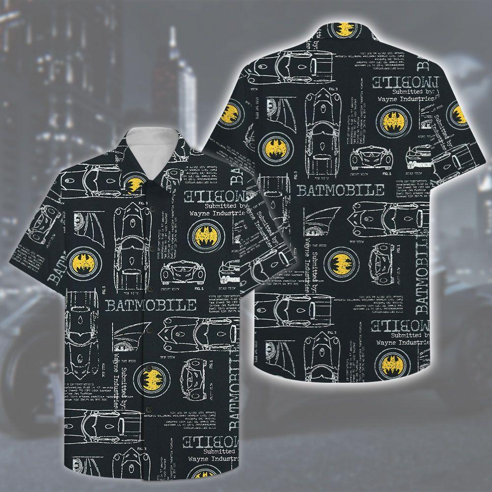 Batman Batmobile Hawaiian Shirt Summer Shirt