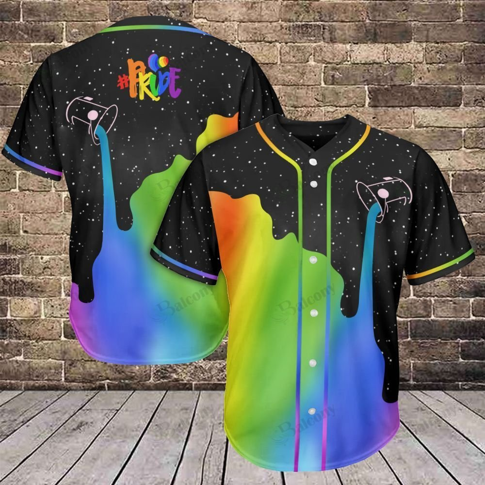 LGBT Pour Color Change Pride Baseball Jersey shirt