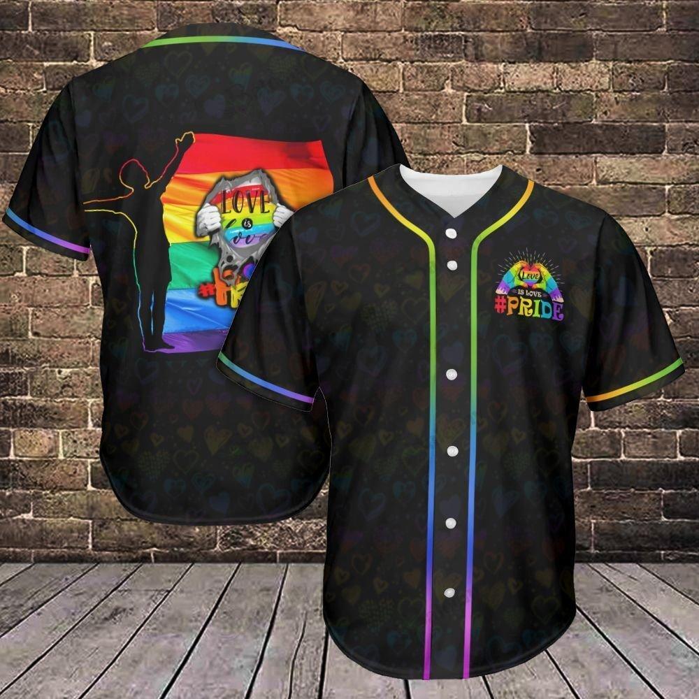 LGBT Love is Love Reveal Baseball Jersey shirt