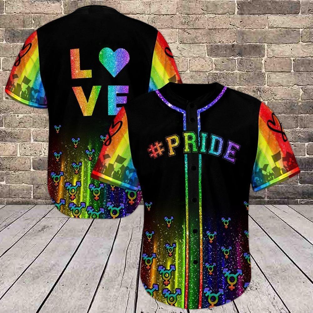 LGBT Pride Love Rainbow Color Love is love Baseball Shirt