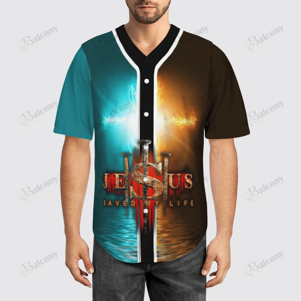 Jesus Saved my life Baseball Jersey shirt