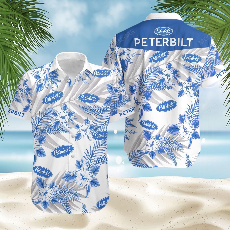 Peterbilt Floral Hawaiian Shirt