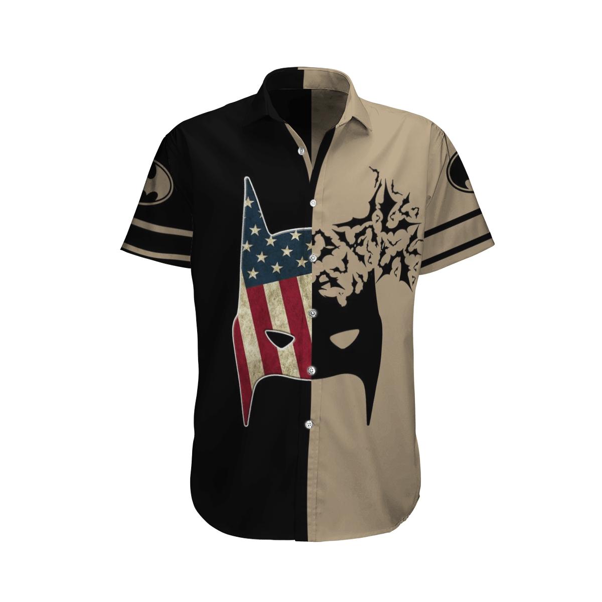 US flag Batman mask Hawaiian Shirt