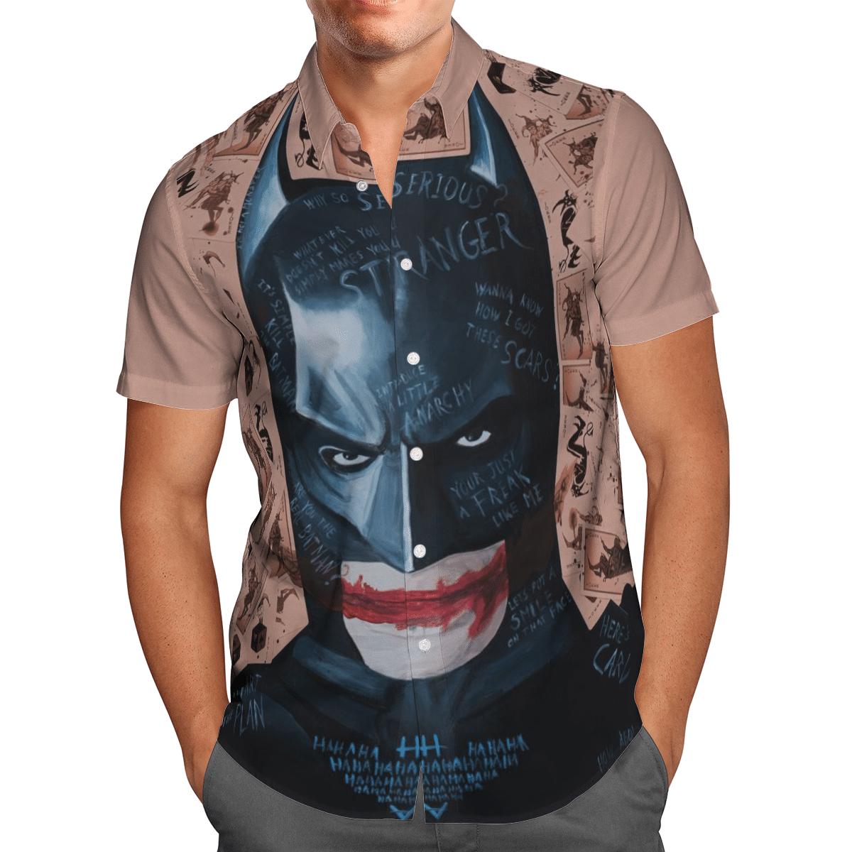 Joker in Batman Stranger Hawaiian Shirt