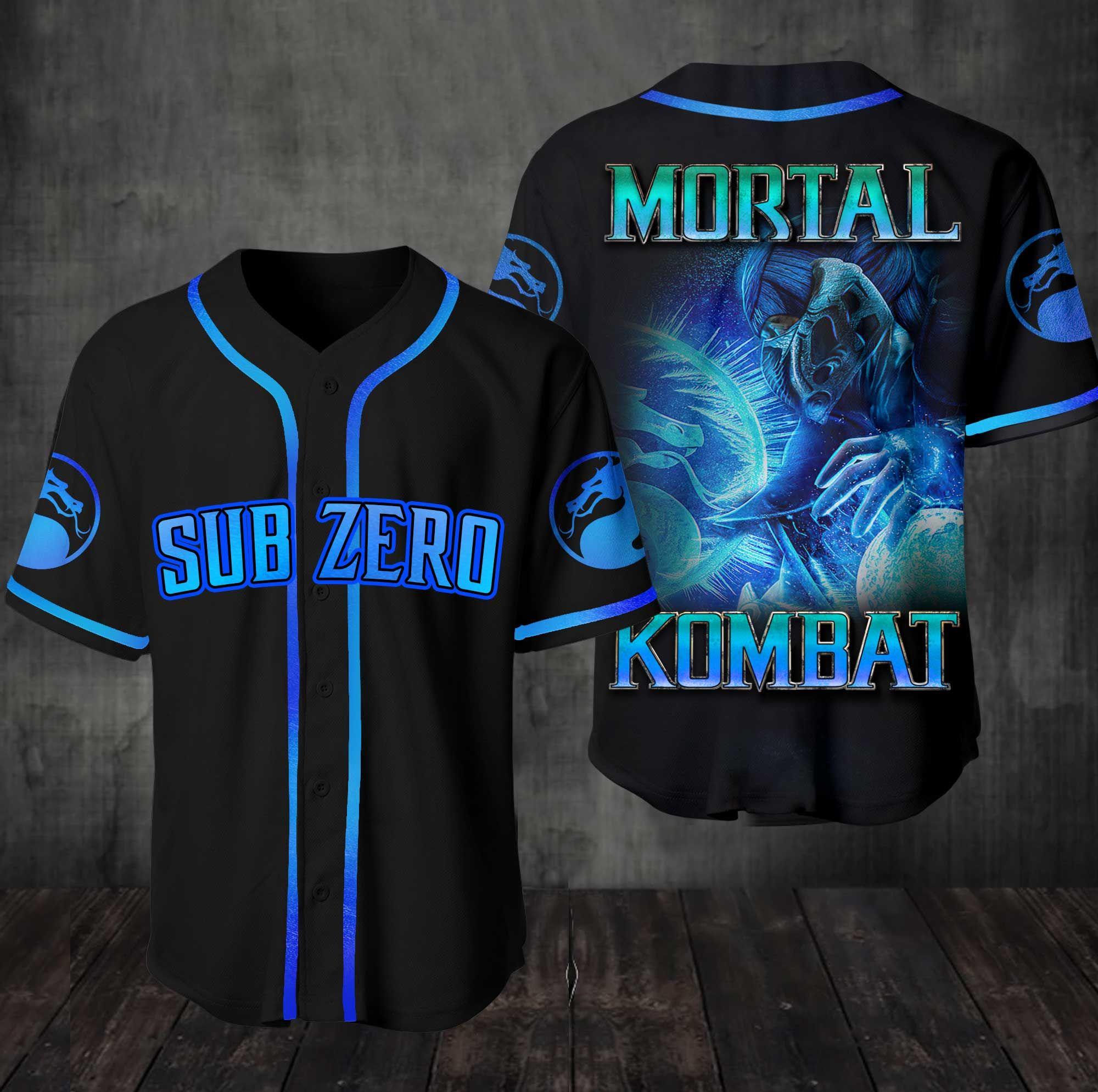 Mortal Kombat Team Sub Zero Baseball Jersey Shirt