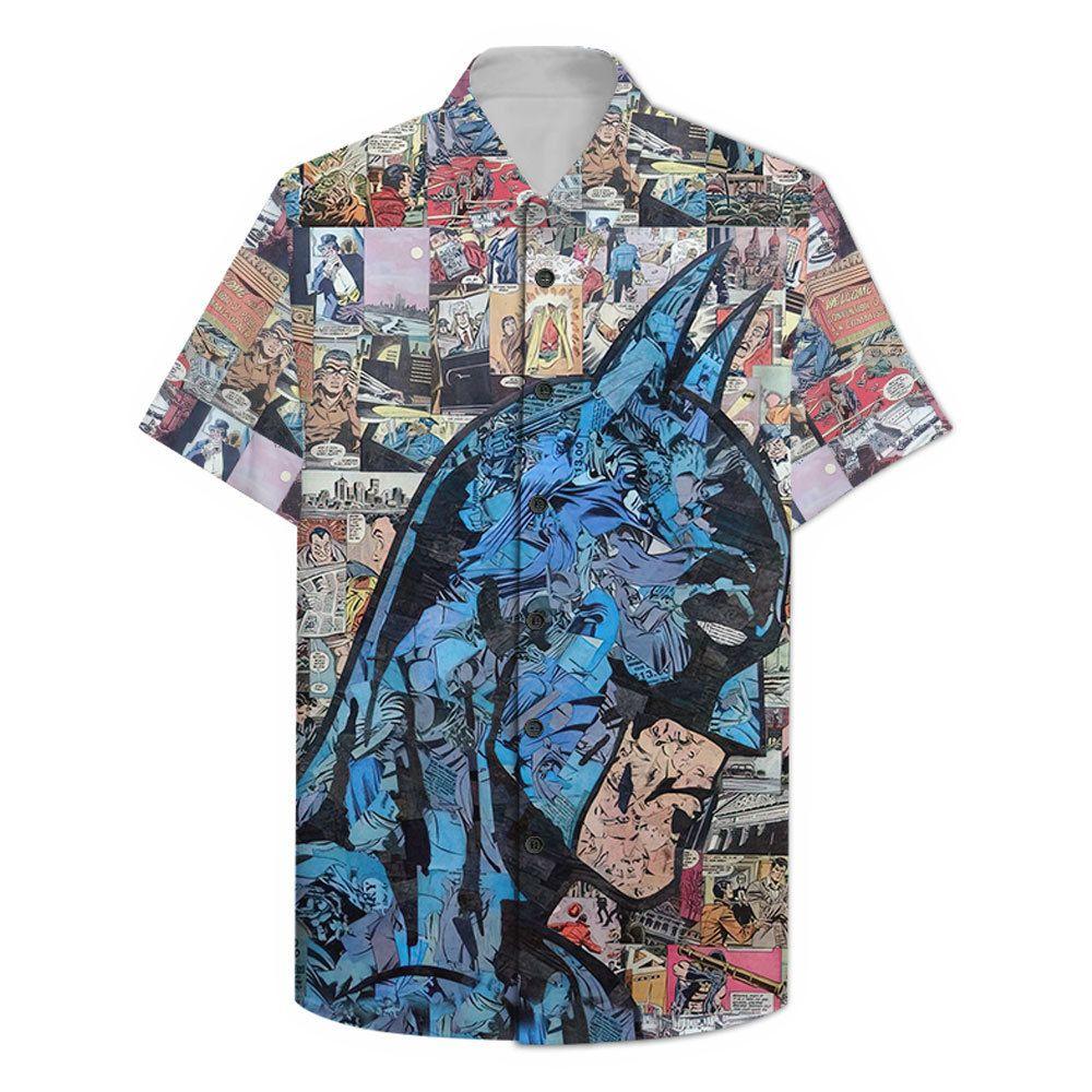 Comic Batman portrait Hawaiian Shirt