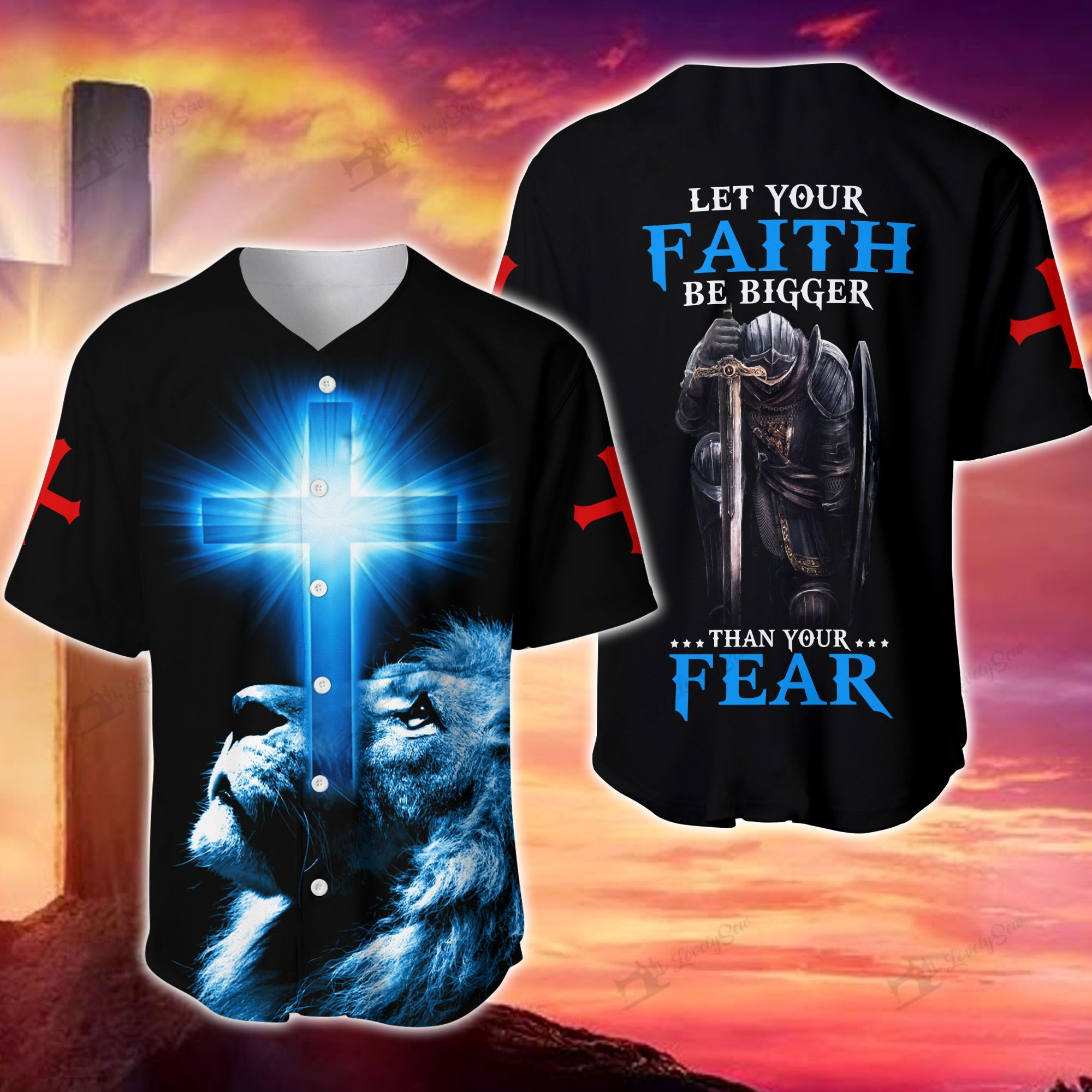 God Let Your Faith Be Bigger Than Your Fear Baseball Jersey Shirt