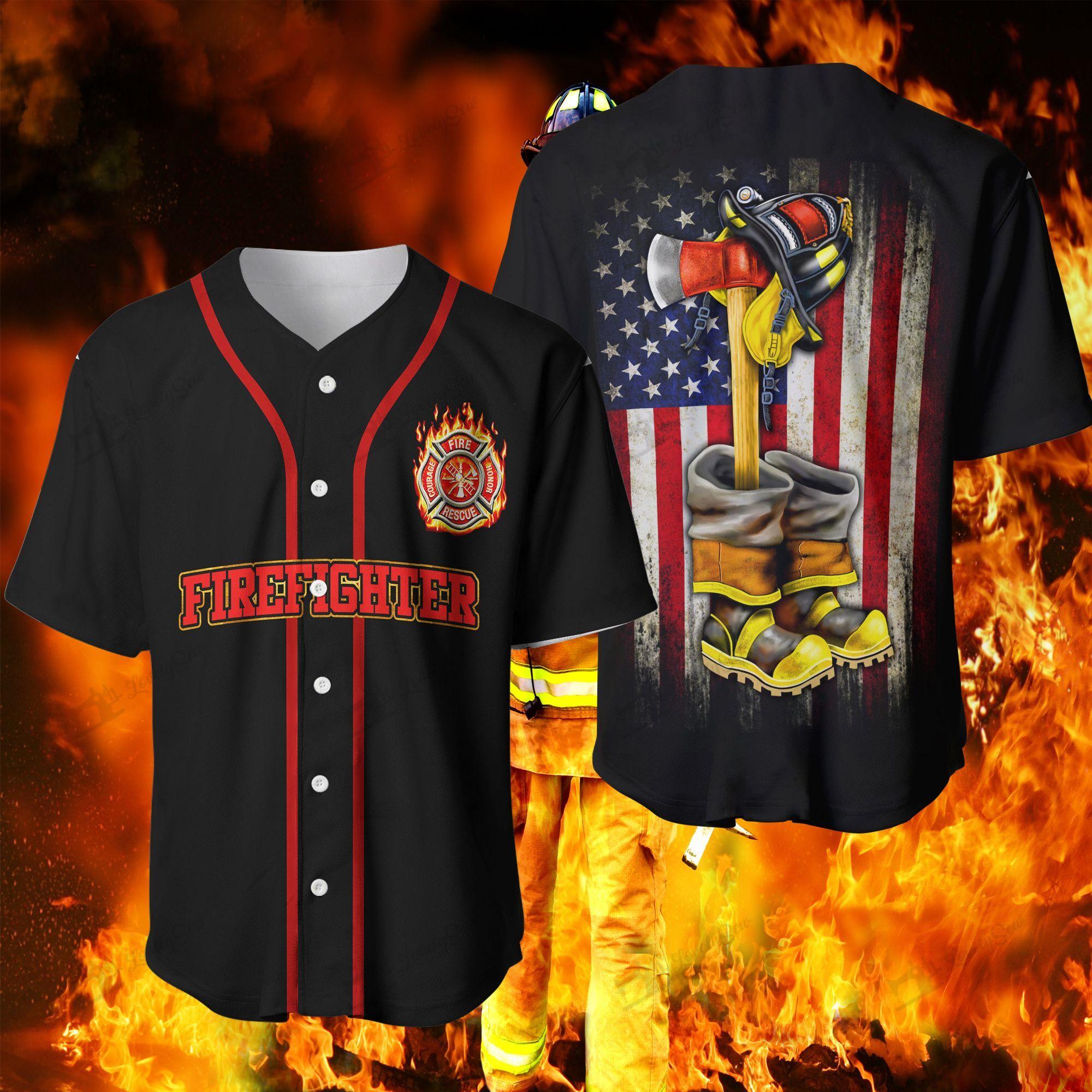 Firefighter Baseball Baseball Jersey Shirt
