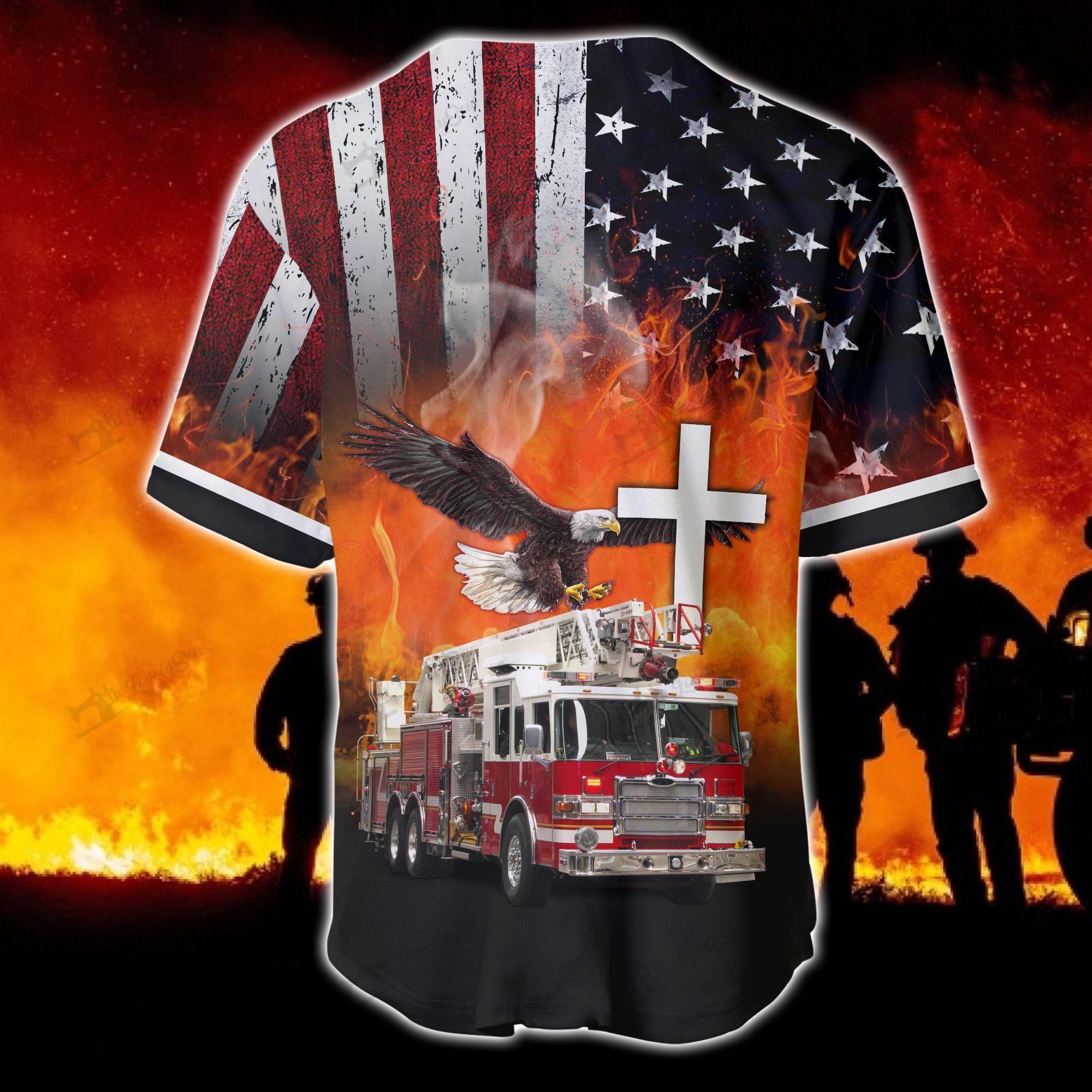 Firefighter Truck Baseball Baseball Jersey shirt
