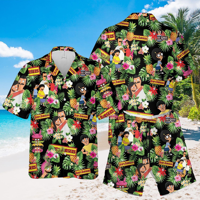 Bob Burgers Hawaiian Shirt and Beach Shorts