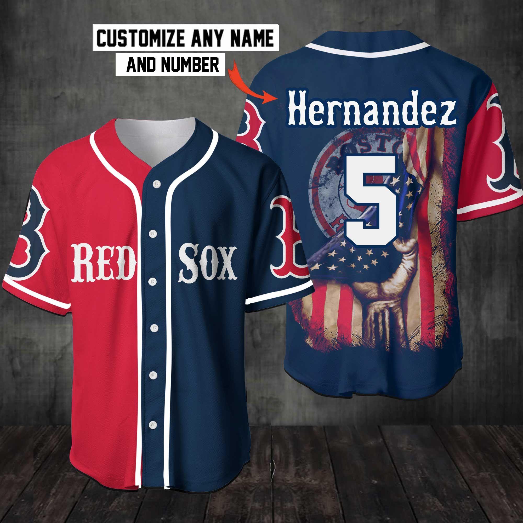 Red Sox Baseball Jersey shirt Customize Name Number