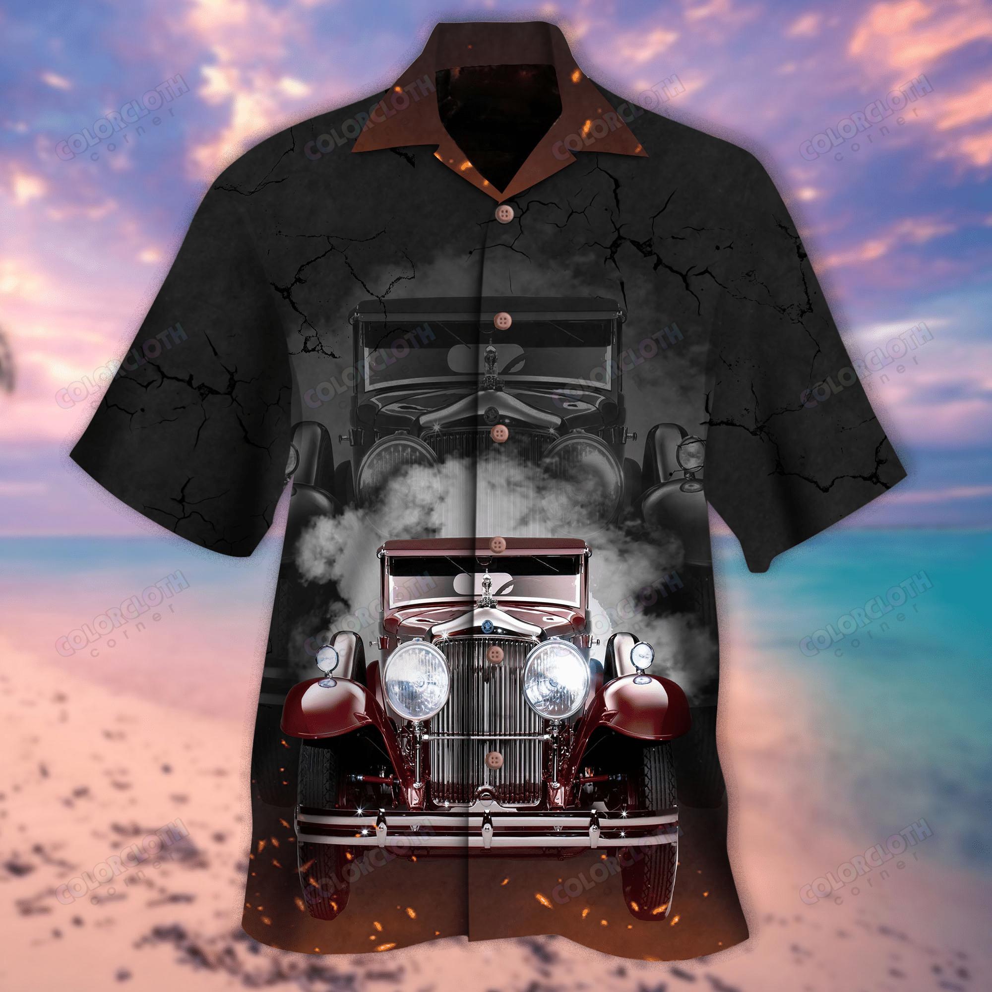 Hot Rod Car Smog Hawaiian Shirt