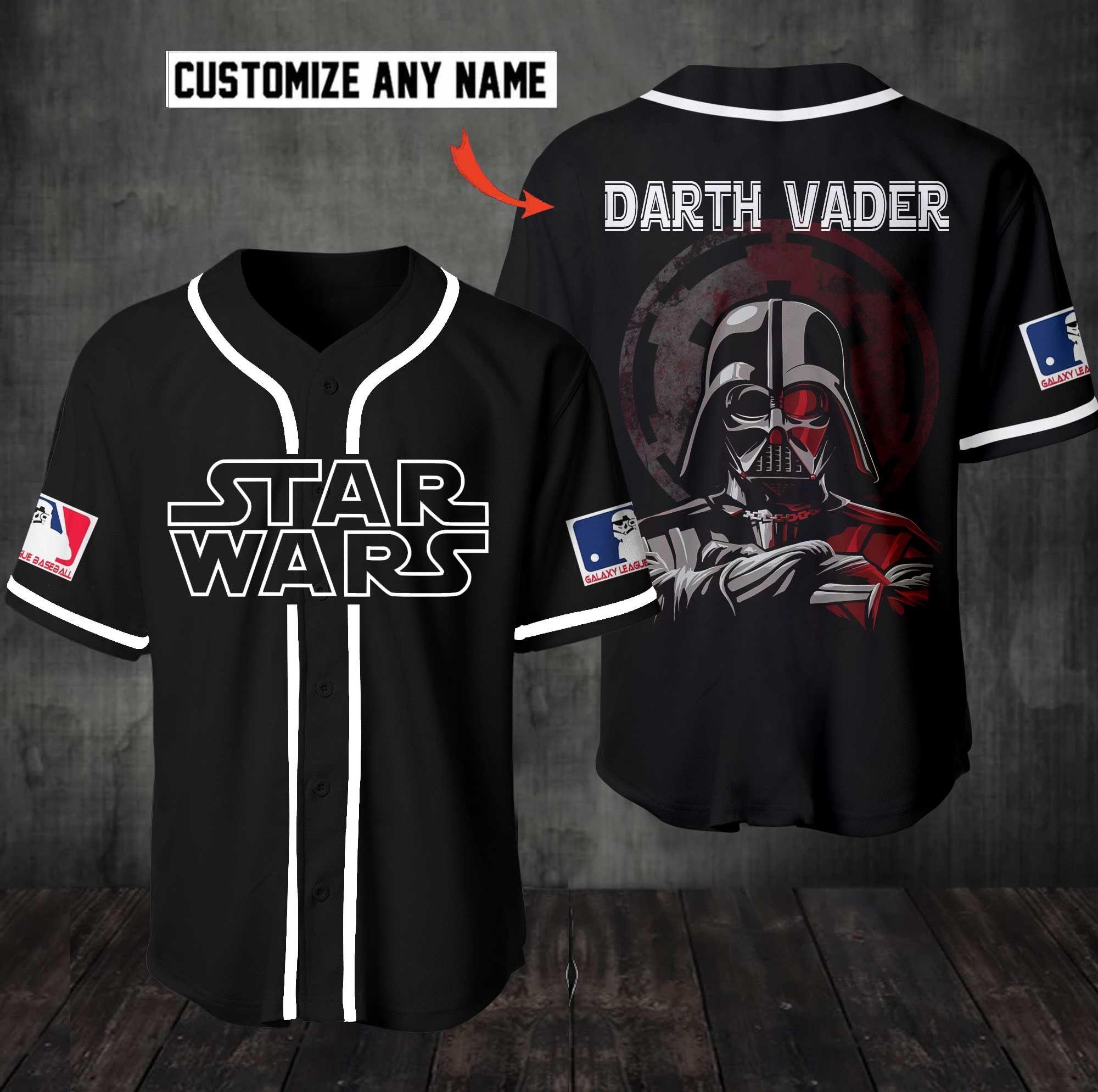 Personalized Star Wars Darth Vader Baseball Jersey Shirt