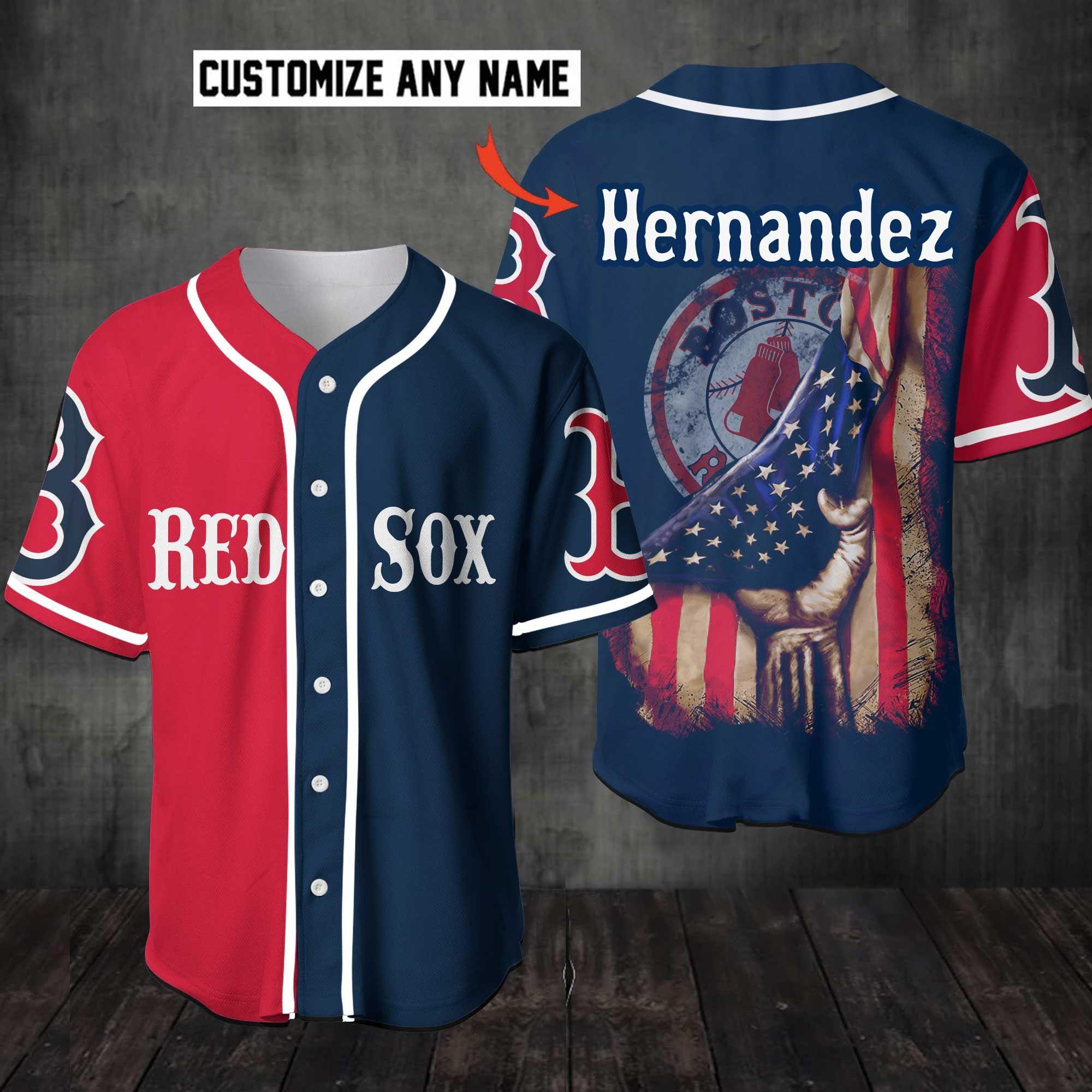 Red Sox Baseball Jersey shirt Customize Name