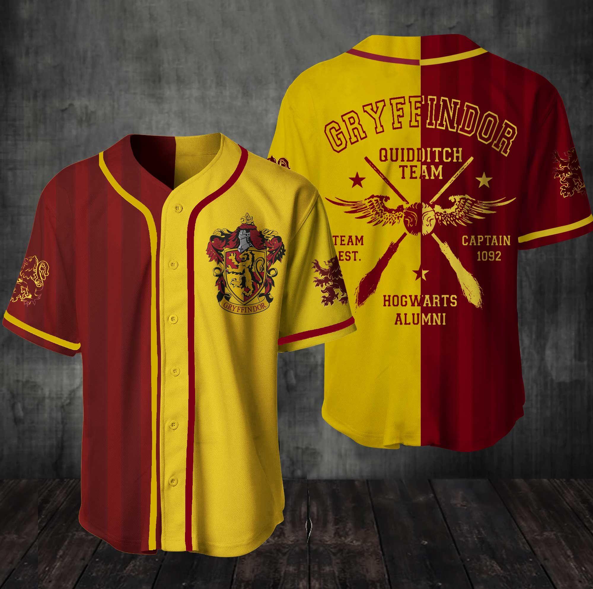 Hogwarts Gryffindor HP Baseball Jersey shirt