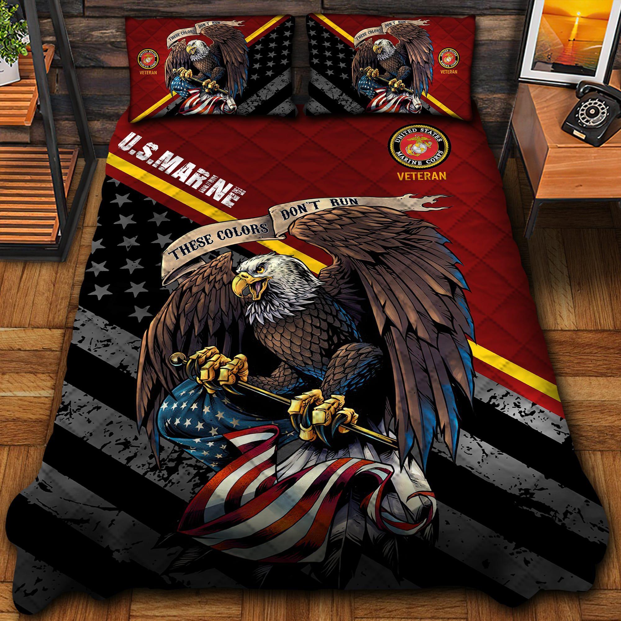 US Marine Quilt Bedding Set