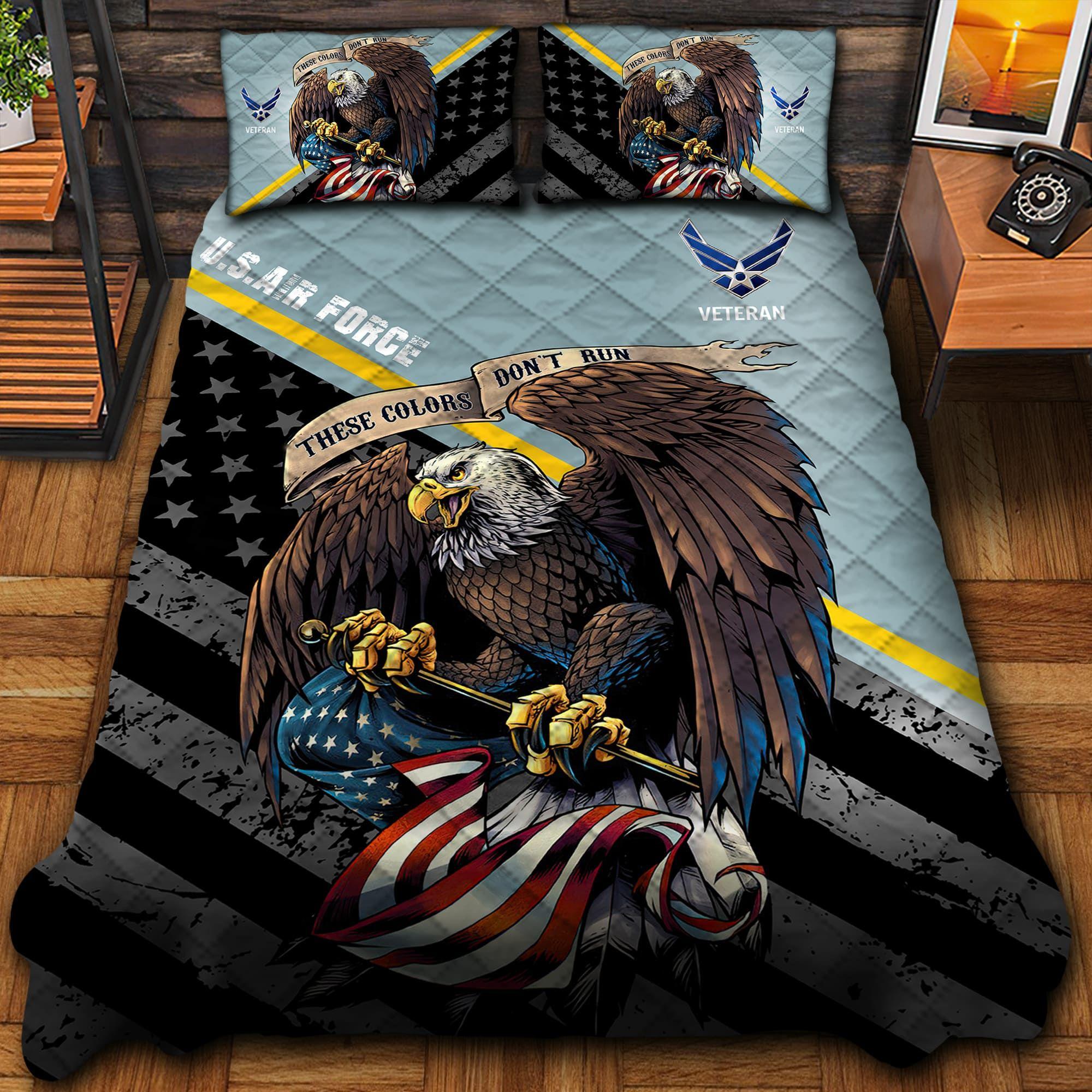 Unique US Air Force Quilt Bedding Set