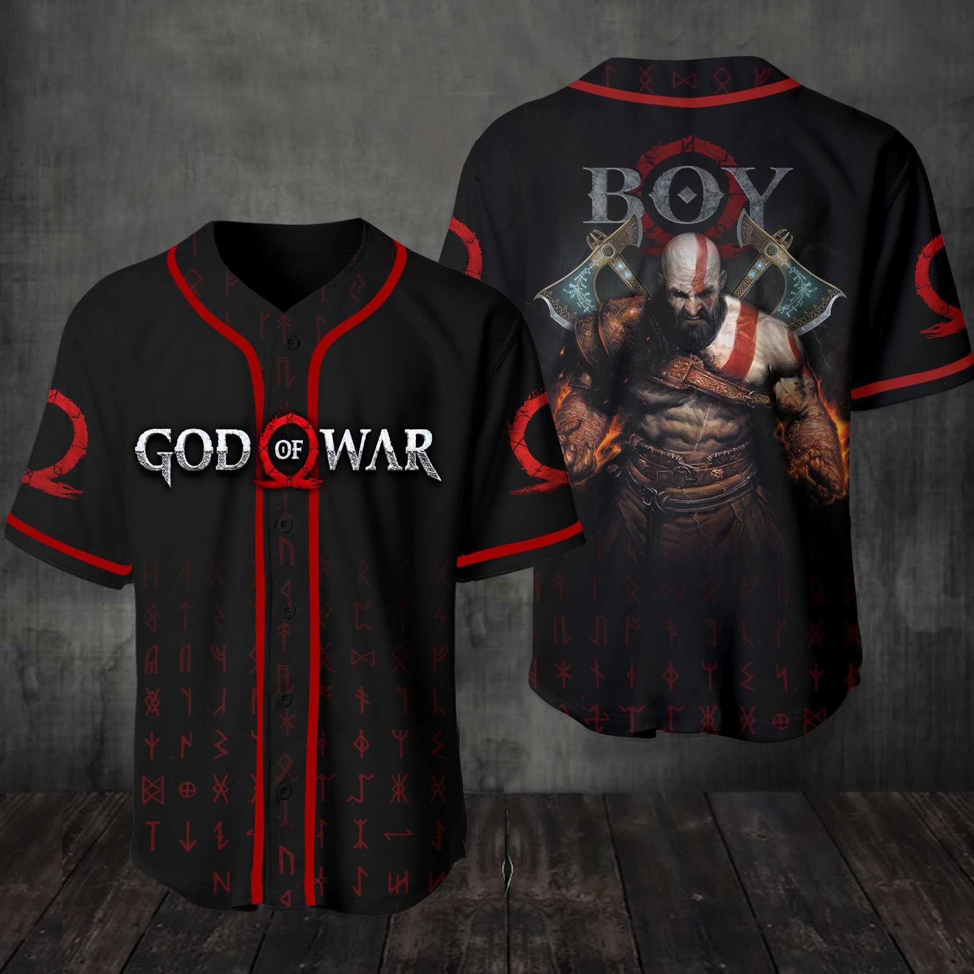 God of War Baseball Jersey Shirt