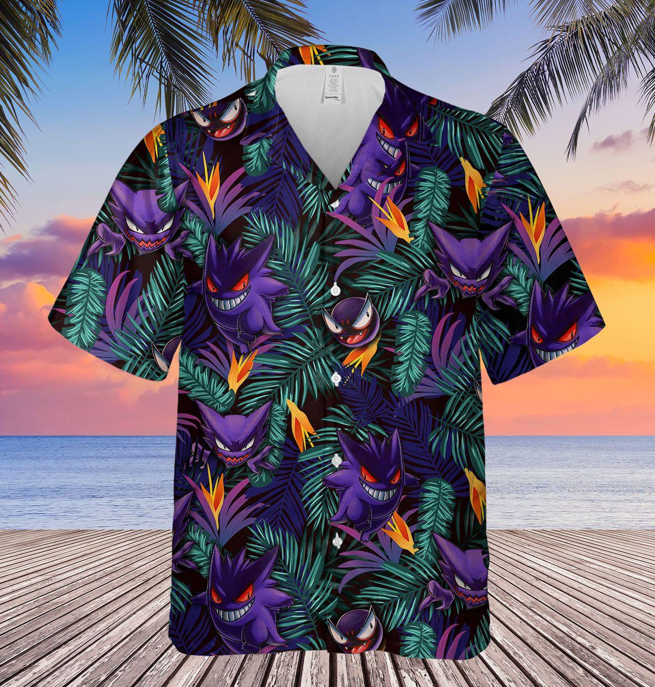 Gengar Evolution Hawaiian Shirt