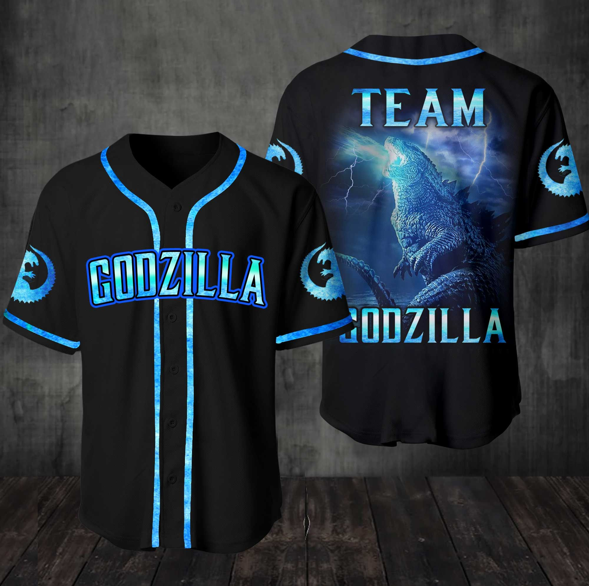 Team Godzilla Baseball Jersey Shirt