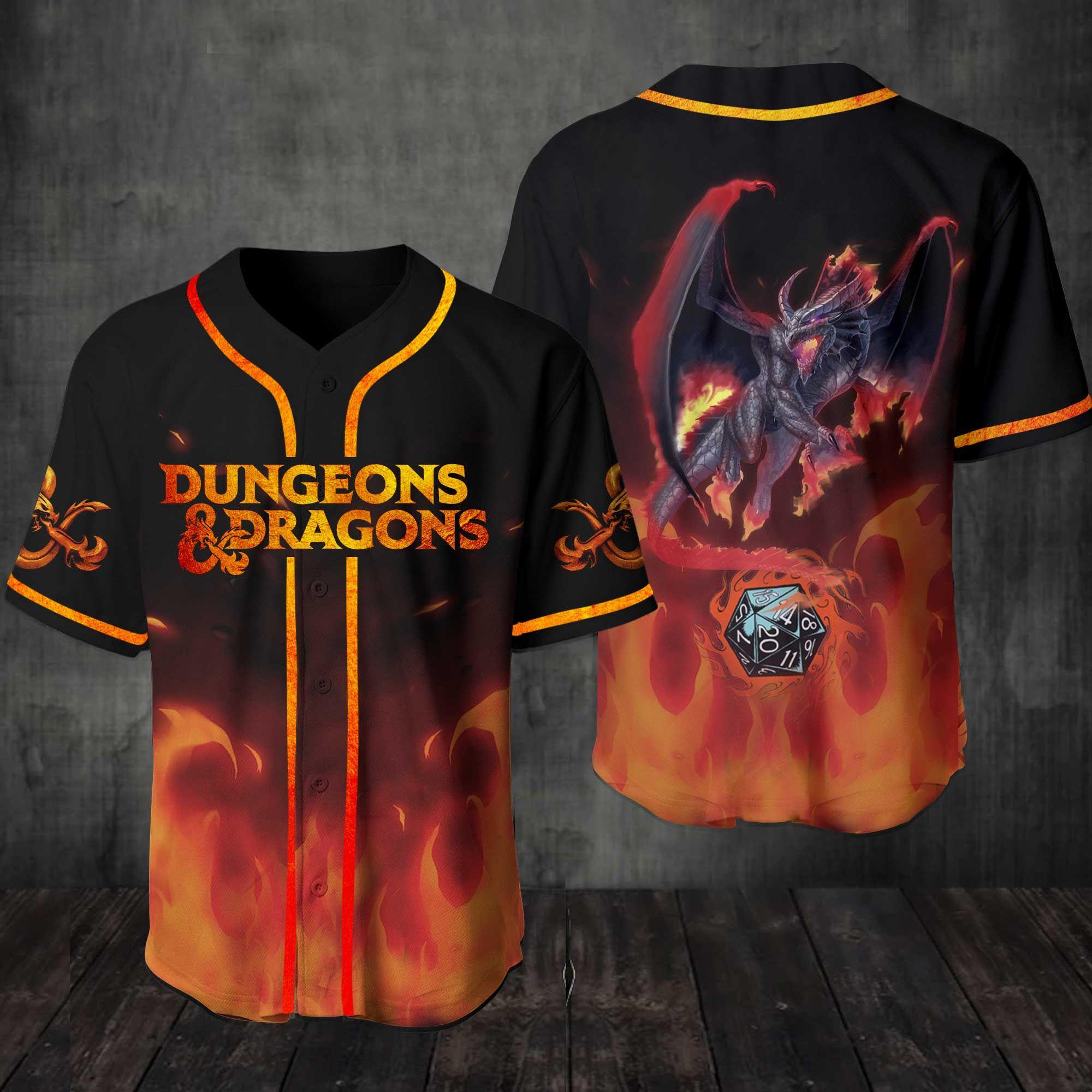 Dungeons And Dragons Baseball Jersey Shirt